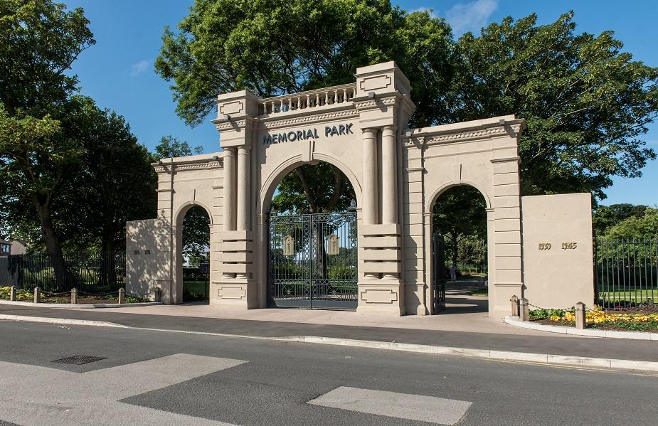 Memorial Park main entrance