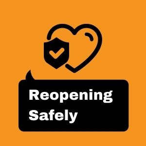 Reopen safely graphic