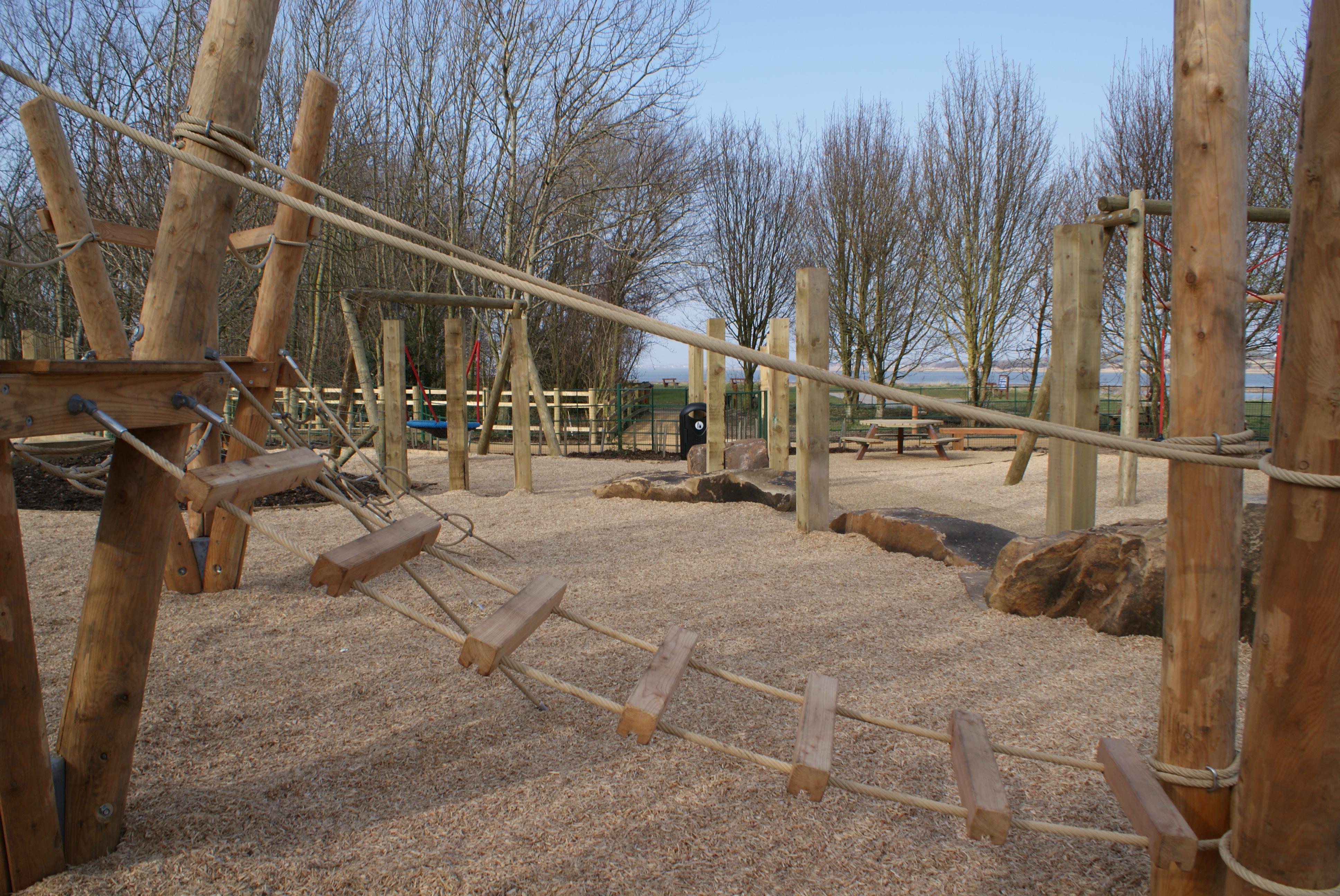 Wyre estuary country park play area
